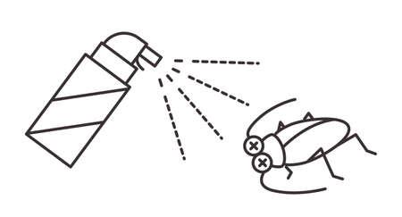Pest control icon (cockroaches)
