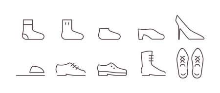 10 Icon Sets (Footwear)