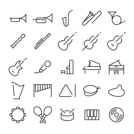 25 Icon Set No.21 (Music) Vecteurs