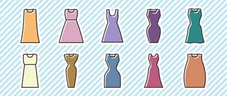 10 Icon Sets (Clothing/Women's Clothing) Vektorgrafik