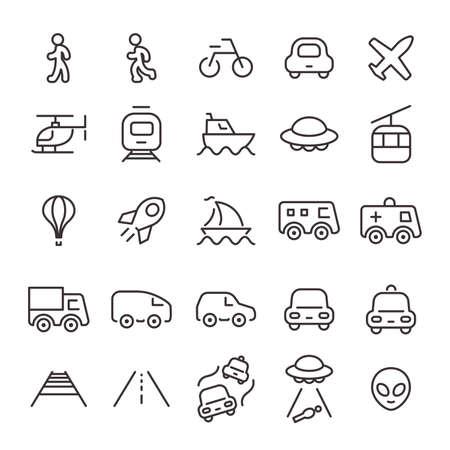25 Icon Set No.29 (Vehicle/Transportation)