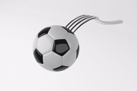 stab: football stab by fork
