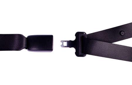 cinturon de seguridad: Inaugurado cintur�n de seguridad. Todos en el fondo blanco. Foto de archivo