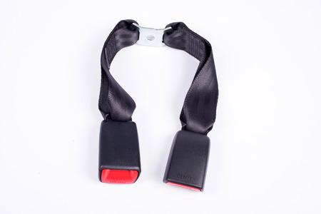 seatbelt: Seat belt parts on white background.