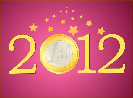 massive: 2012 New Year with Euro coin