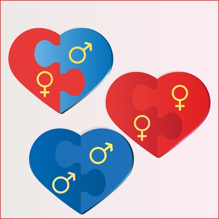 sexuales: Juego de acertijos de los �rboles del coraz�n doble que simbolizan los diferentes tipos de amor