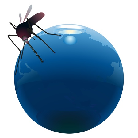 sucking: Mosquito sucking out natural resources  on the Earth