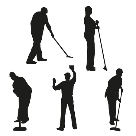Set of five cleaners
