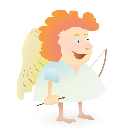 Red-haired funny angel Illustration