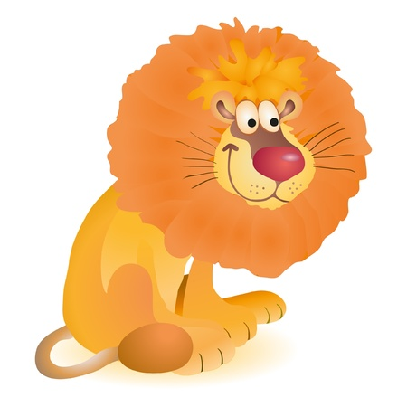 Little funny toy sitting lion Vector