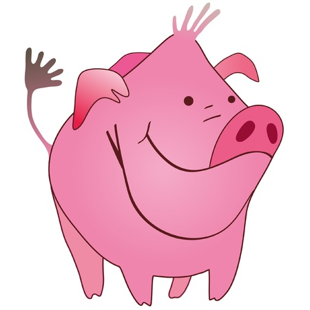 Funny pig Stock Vector - 13428705