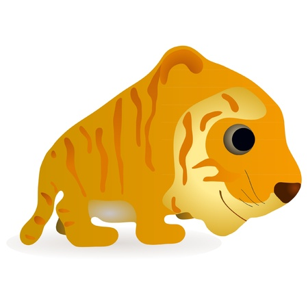 Little funny tiger Illustration
