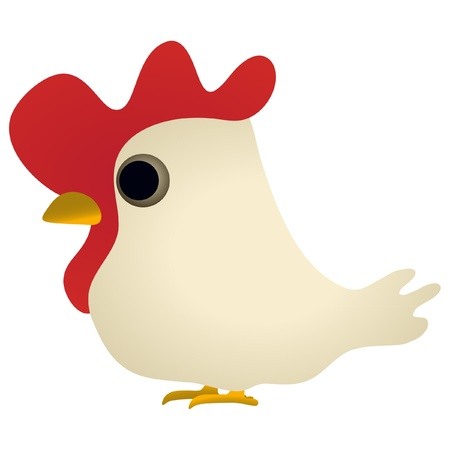 Little funny cock Vector