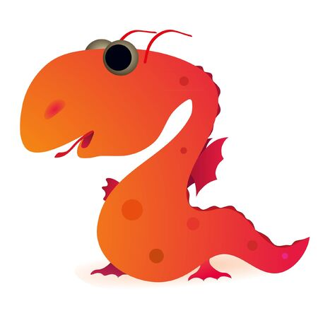 Little funny dragon Vector