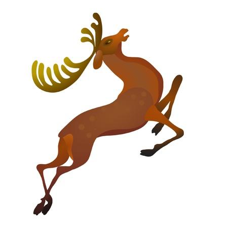 Stylish deer isolated on the white background Illustration