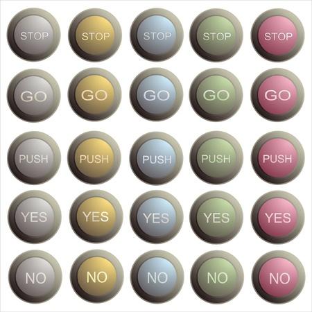 Set of twenty stylish buttons Stock Vector - 15465521