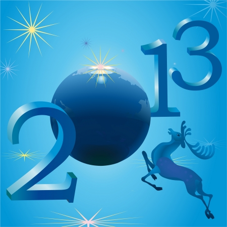 2013 New Year symbols and deer