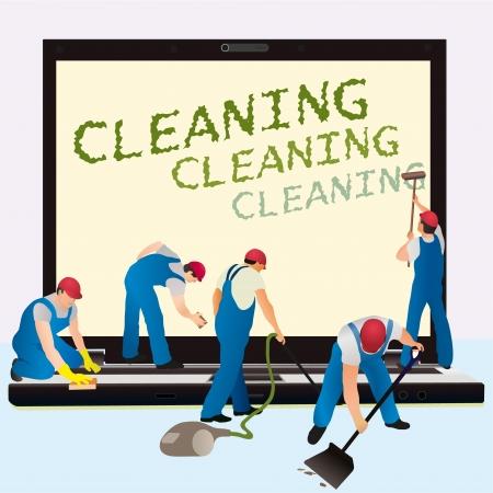 cleanness: Cinque detergenti notebook con schermo grande buio