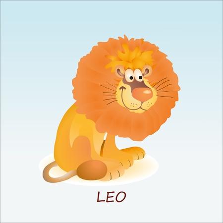 Astrological symbol of Lion or Leo Illustration