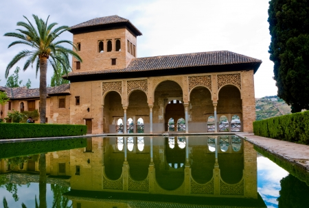 granada: Generalife Gardens at Alhambra , Granada Spain are among the most visited place in Spain