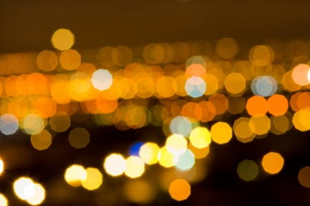 night out: Bokeh of orange and yellow lights