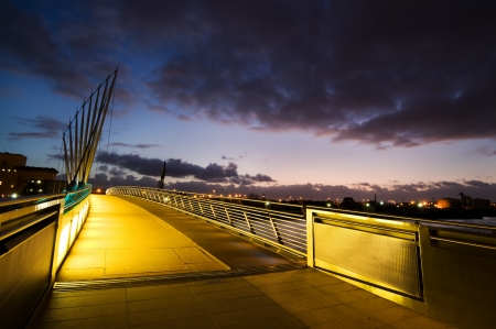 lowry: Media City bridge at Salford Quays Manchester
