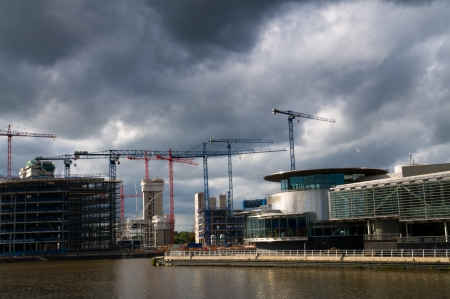 Media city - office of BBC at salford Quays, Manchester under construction