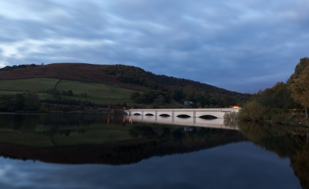 A bridge at Ladybower reservvoir in the Peak district, Derbyshire, England Stock Photo - 16519713