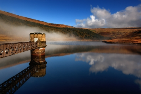 Dove stone reservoir in the peak district of England Stock Photo