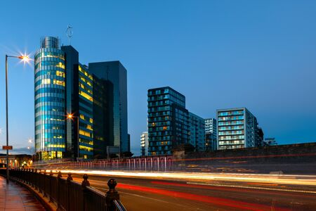 Green quarter is the modern residential and office block in Manchester photo