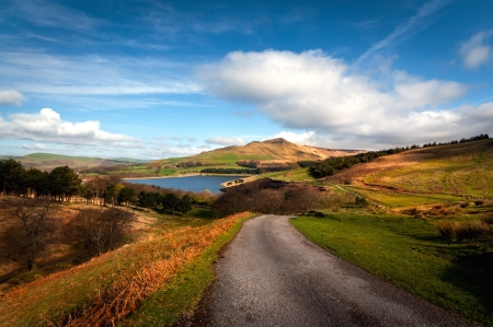 Classic british landscape at the Peak district near Manchester photo