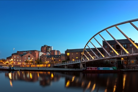 A foot bridge in castlefield, one of the main districts of Manchester