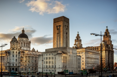 recognised: The Pier Head is a significant aspect of the  Site and brings together the majestic Three Graces of The Royal Liver Building, The Cunard Building and Port of Liverpool building, making Liverpool Waterfront one of the most recognised skylines in the world