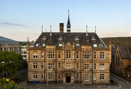 stately: Classic british architecture in Huddersfield a small town in West Yorkshire England