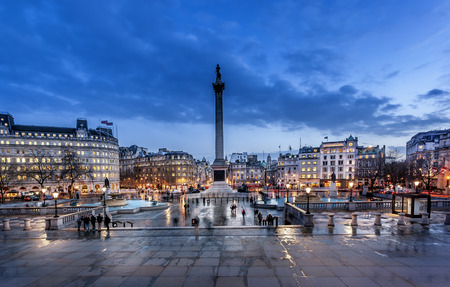 trafalgar Square is a tourist attraction in central London, England  It is home to Nelson