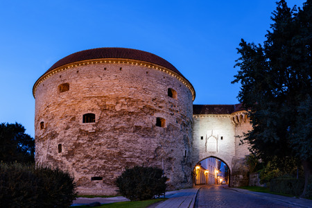 One of the entrance gate to Tallinn a medieval city, capital of Estonia.