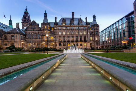 Sheffield Town Hall is a building in the City of Sheffield, England Foto de archivo