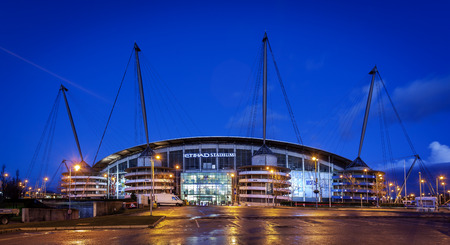 Manchester City Football Club stadium in Manchester