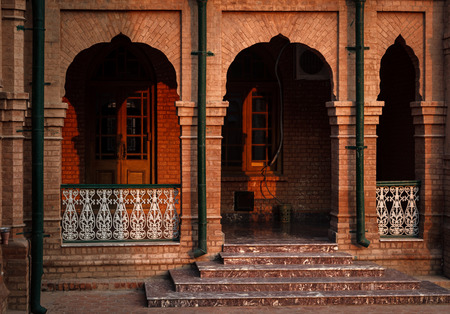 One of the corridors of historic Islamia College Peshawar. Stock Photo - 28692696