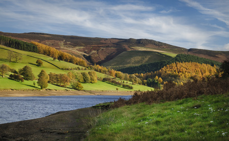 Ladybower reservoir in the Peak district in North West England