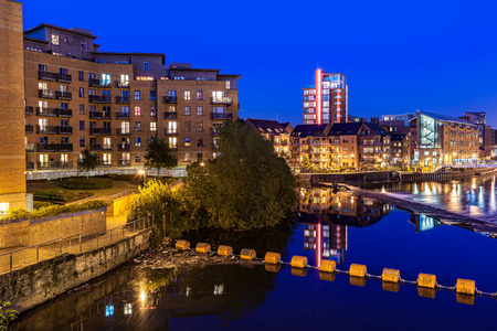 Clarence dock is the newley developed in Leeds city centre, England Stock Photo