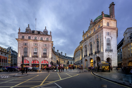 taxi famous building: Piccadilly Circus is a road junction and public space of London Editorial