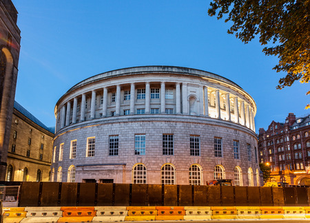 Manchester Central Library is a circular library in Manchester, England Stock Photo