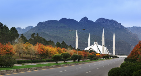 Shah Faisal Mosque is one of the famous landmarks of Pakistan situated in the capital city Islamabad