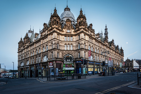Leeds Kirkgate Market is a market in Leeds, West Yorkshire, England located on Vicar Lane. It is the largest covered market in Europe.