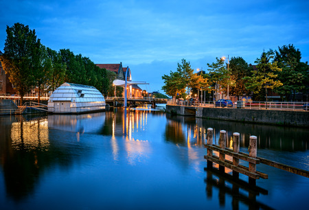 Leeuwarden city is the capital of Friesland province in the Netherlands.