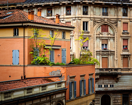 bologna: Rustic buildings and house in Bologna Italy.