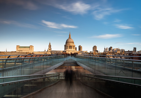 saint pauls cathedral: St Paul Cathedral and the millennium bridge London