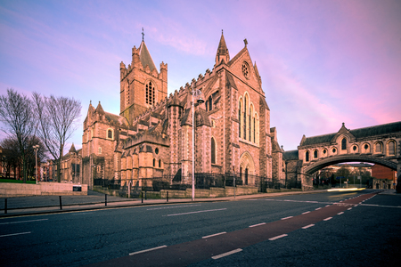 eire: Christ Church Cathedral is one of the most visited landmark and tourist attraction in Dublin Ireland.