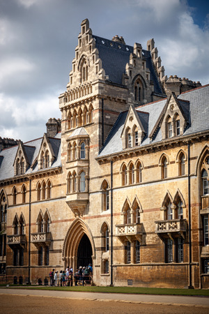 Christ Church college is one of the largest colleges in the University of Oxford a. It is visited by many people , tourists and guests. Stock Photo - 39226848